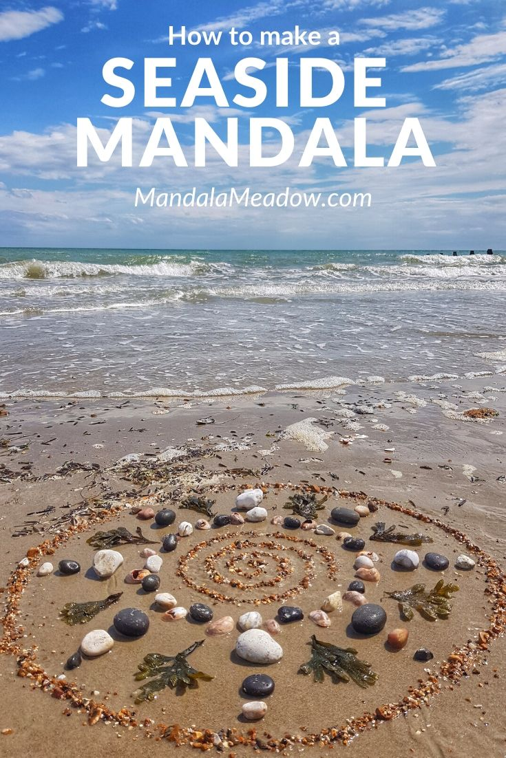 How to make a beach mandala
