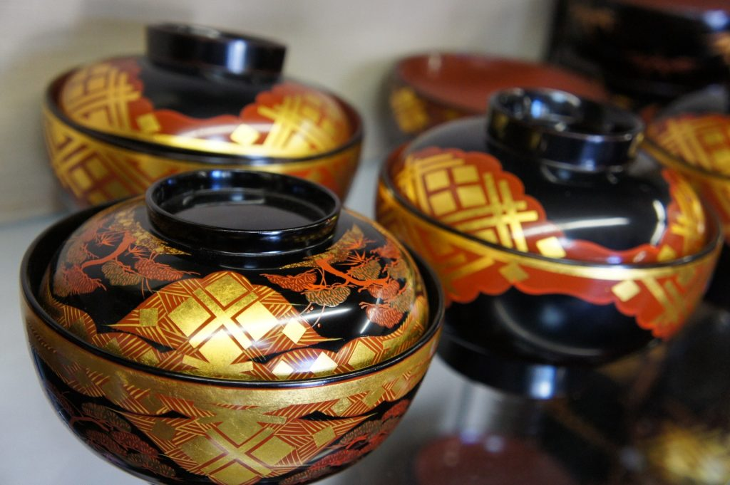 Traditioanl lacquerware in Japan