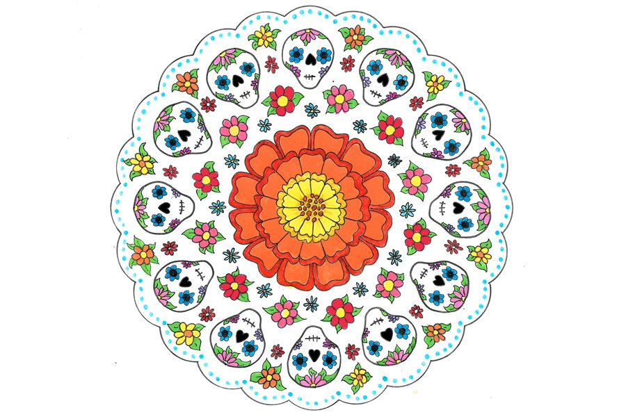 Day of the Dead Mandala