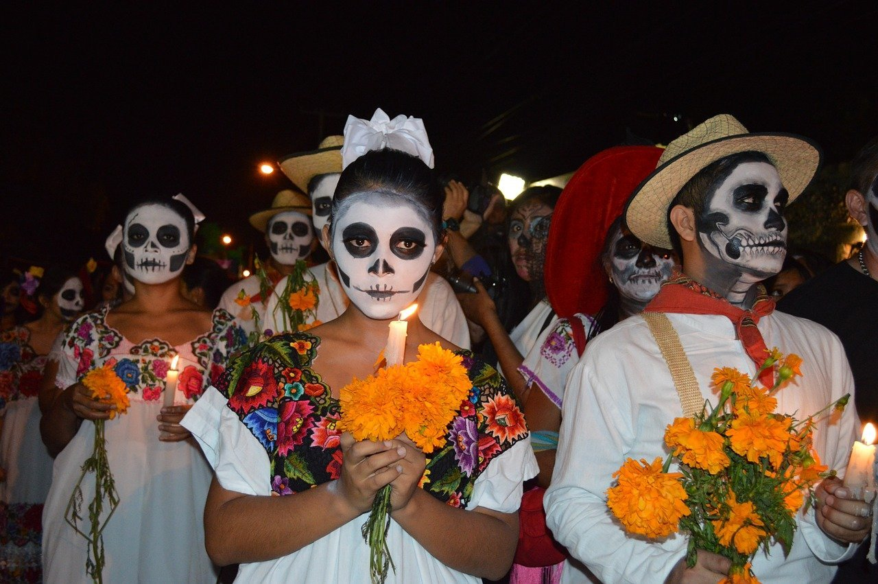Day of the Dead costumes and make-up